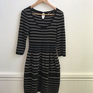 Anthropologie Dresses - Anthropologie Knitted and Knotted B/W Dress